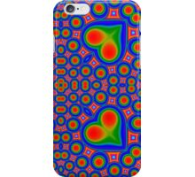 Abstract hearth and circle colorful pattern iPhone Case/Skin