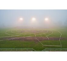 Foggy Cycling Maze Photographic Print