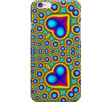 Stylish abstract colorful hearth pattern iPhone Case/Skin