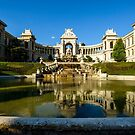 Palais Longchamps in the evening sun, Marseille  by MarcW