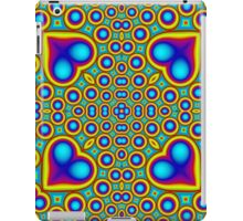 Stylish abstract colorful hearth pattern iPad Case/Skin