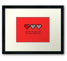 Saving Your Heart Framed Print