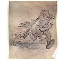 Irish Fairy Tales by James Stephans art by Arthur Rackham 1920 0247 The Thumping of his Big Boots Poster