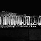 Acropolis close up at night. by gregk72
