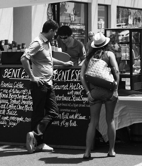 shall I have cake or just a cafe lattè! by Karen E Camilleri