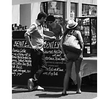 shall I have cake or just a cafe lattè! Photographic Print