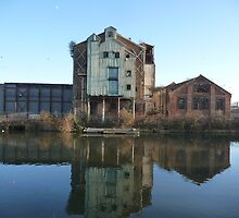 Industrial Ruin on the Canal by Paul Davies