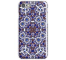 Modern blue abstract pattern iPhone Case/Skin