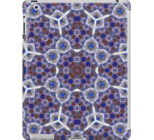 Modern blue abstract pattern iPad Case/Skin