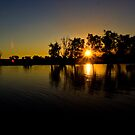 Sunset, Yellow Waters, Kakadu, Australia by Bill  Russo