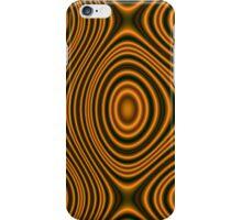 Trendy orange pattern lines iPhone Case/Skin
