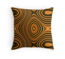 Trendy orange pattern lines Throw Pillow