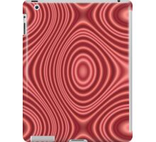 Red lines pattern iPad Case/Skin