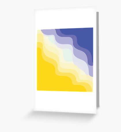 Waves on sand Greeting Card