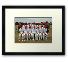 Southern Tasmania Under 13 Cricket Team  5-01-10 Framed Print