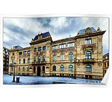 San Sebastián – Donostia. Edificio de Correos. Poster