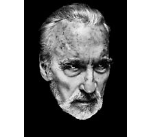 Sir Christopher Lee Tribute Photographic Print