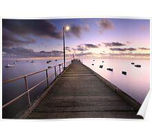 Pre-dawn Glow, Mornington Peninsula, Australia Poster