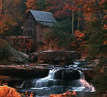 The Glade Creek Grist Mill by Orland Allen