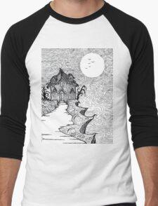 Haunted House  Men's Baseball ¾ T-Shirt