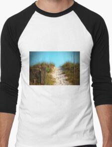 Steep Beach Path Men's Baseball ¾ T-Shirt