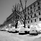 Snow in the parking area by Antonello Mariani