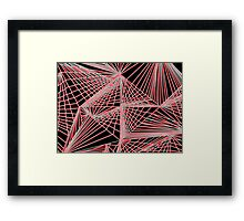 Spinning Cube - Red Framed Print
