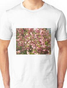 Pink flowers background Unisex T-Shirt