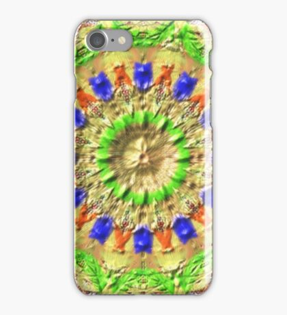 Trendy colorful texture pattern iPhone Case/Skin