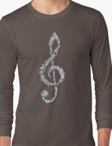 Metal Treble Clef Long Sleeve T-Shirt