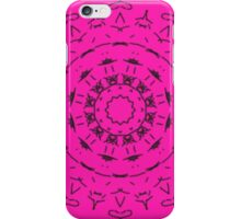 Pink and black pattern iPhone Case/Skin