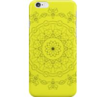 yellow with black pattern iPhone Case/Skin