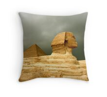Great Sphinx & Pyramid of Khafre Throw Pillow