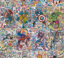 Vintage Comic Superheroes Galore (Limited Time) by Daveseedhouse