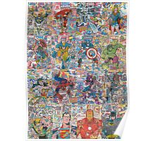 Vintage Comic Superheroes Galore (Limited Time) Poster