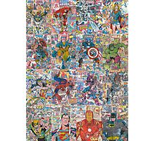Vintage Comic Superheroes Galore (Limited Time) Photographic Print