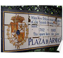 Plaza D Armas- New Orleans, Louisiana Poster