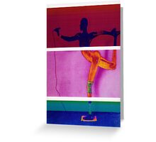 Tri-color Grace - art graphic Greeting Card