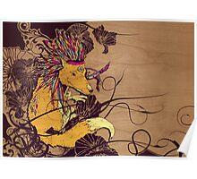 Spirit Happy Fox Poster