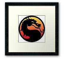 mortal kombat logo Framed Print