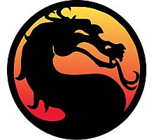mortal kombat logo Photographic Print