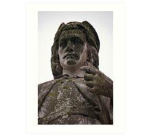 Mossy Statue- Bruges, Belgium Art Print