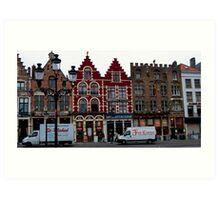 Street Scene - Bruges, Belgium Art Print