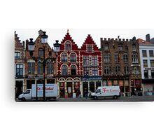 Street Scene - Bruges, Belgium Canvas Print