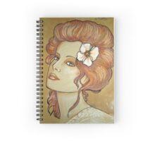Face of woman Spiral Notebook