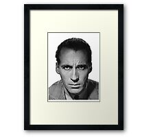 RIP CHRISTOPHER LEE Framed Print
