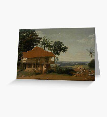 a colourful Brazil landscape Greeting Card