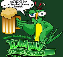 Tommy the Inulsting Parrot - Blarney by EJTees