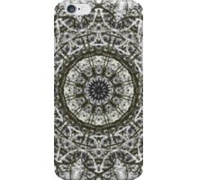 White black abstract pattern iPhone Case/Skin