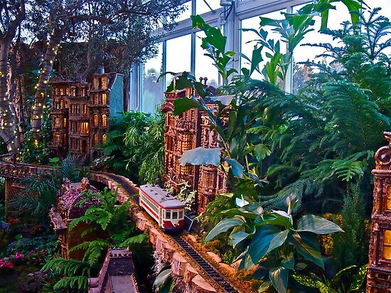 Holiday Train Show - Gingerbread Adventures - Botanical Garden by Jack McCabe